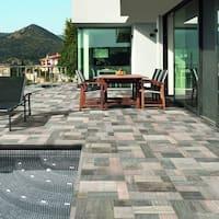 SomerTile 17.375x17.375-inch Lumber Gris Porcelain Floor and Wall Tile (8 tiles/17 sqft.)