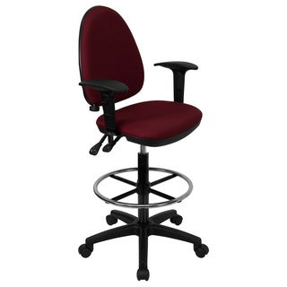 Offex Mid-back Fabric Multi-functional Drafting Stool (2 options available)