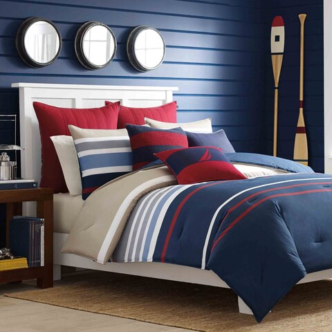 Nautica Bradford Reversible Cotton 3-piece Comforter Set