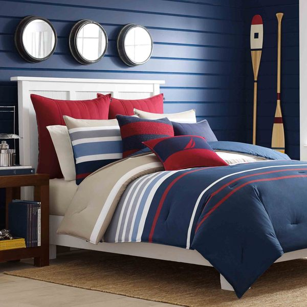 Nautica Bradford Reversible Cotton 3 Piece Comforter Set