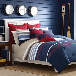 Delicieux Nautica Bradford Reversible Cotton 3 Piece Comforter Set