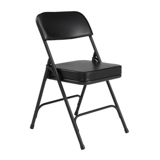 NPS 3200 Vinyl Upholstered Box Seat Folding Chairs Pack of 2