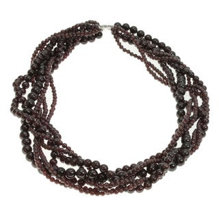 Michael Valitutti Multi-strand Garnet Necklace