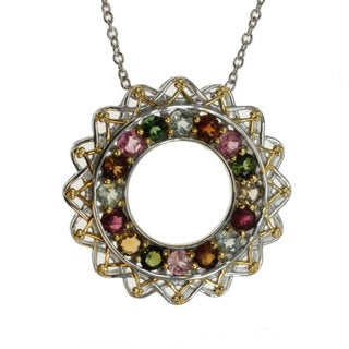Michael Valitutti Multi Tourmaline Circle Pendant