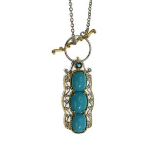 Michael Valitutti Sleeping Beauty Turquoise and Topaz Necklace