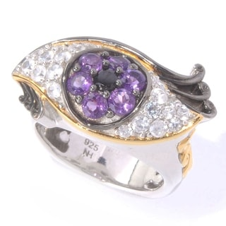 Michael Valitutti Spinel, Amethyst and Zircon 'Eye' Ring