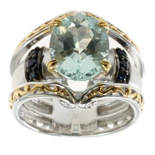 Michael Valitutti Palladium Silver Amblygonite and Blue Sapphire