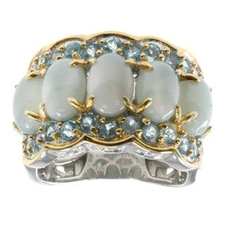 Michael Valitutti Oregon Blue Opal And Swiss Blue Topaz Ring