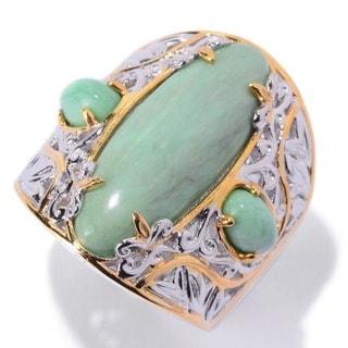 Michael Valitutti Palladium Silver Utah Variscite Ring (Size 7)