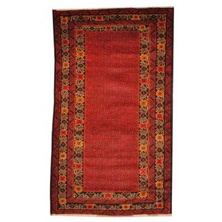 Herat Oriental Semi-antique Afghan Hand-knotted Tribal Balouchi Rust/ Navy Wool Rug (2'9 x 4'9)