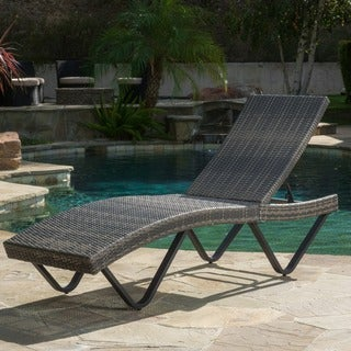 San Marco Outdoor Wicker Chaise Lounge by Christopher Knight Home