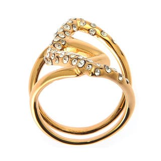 De Buman Yellow Gold Plated White Czech Ring|https://ak1.ostkcdn.com/images/products/9725890/P16899572.jpg?impolicy=medium