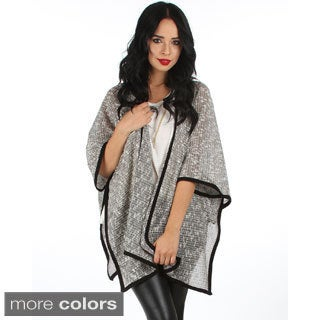 Lyss Loo Over-Sized Poncho Cardigan