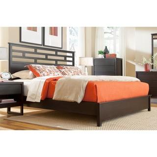 Athena Dark Chocolate Panel Bed