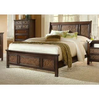 Kingston Isle Havana Brown Sleigh Bed