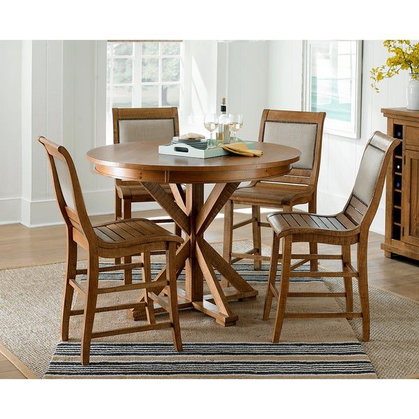 Willow Distressed Round Counter Height Dining Table