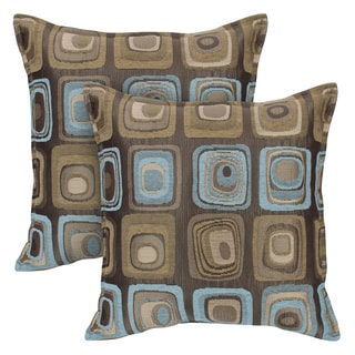 Sherry Kline Retro Spa Blue 20-inch Decorative Throw Pillows (Set of 2)