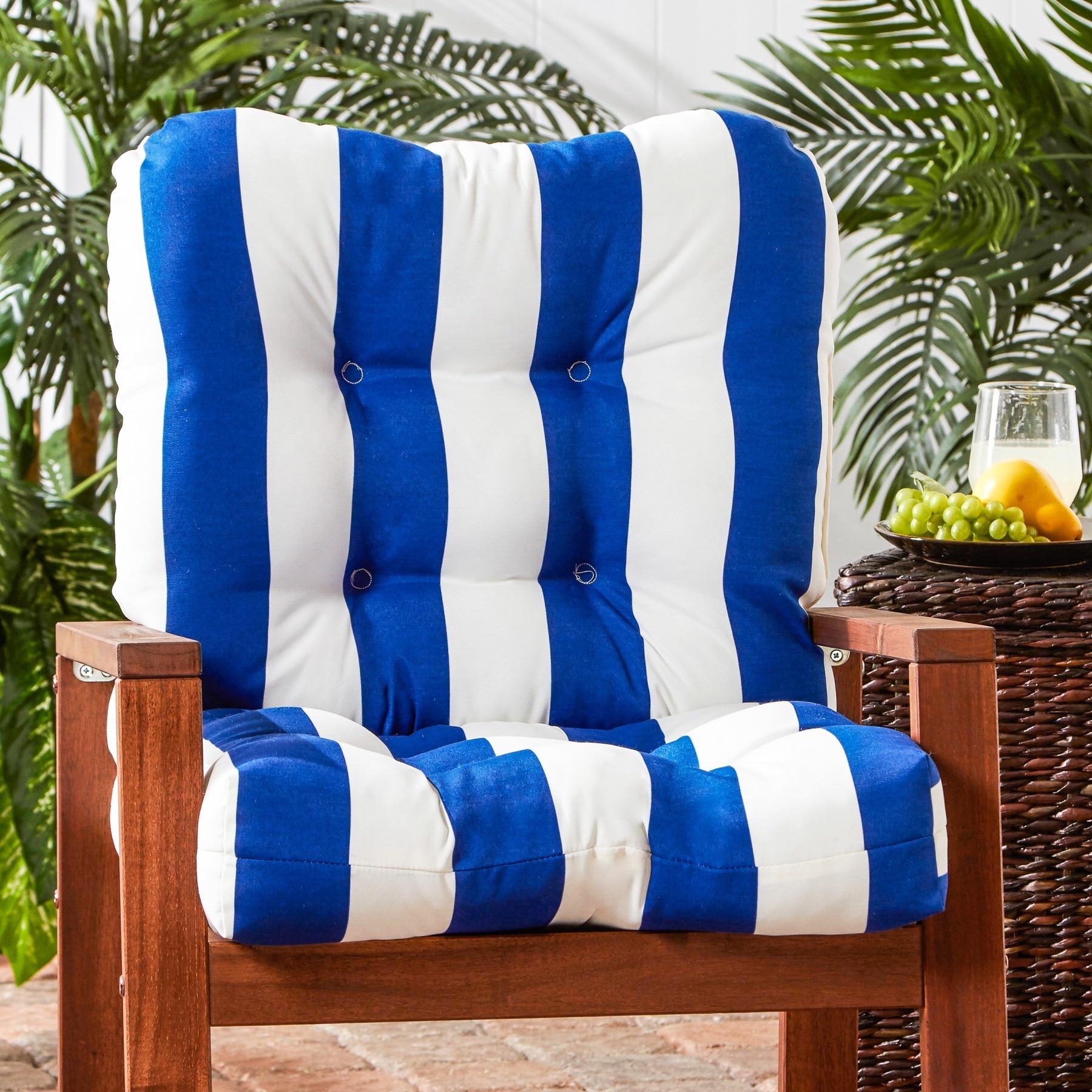 Shop Outdoor Cabana Stripe Overstuffed Chair Cushion Free Shipping