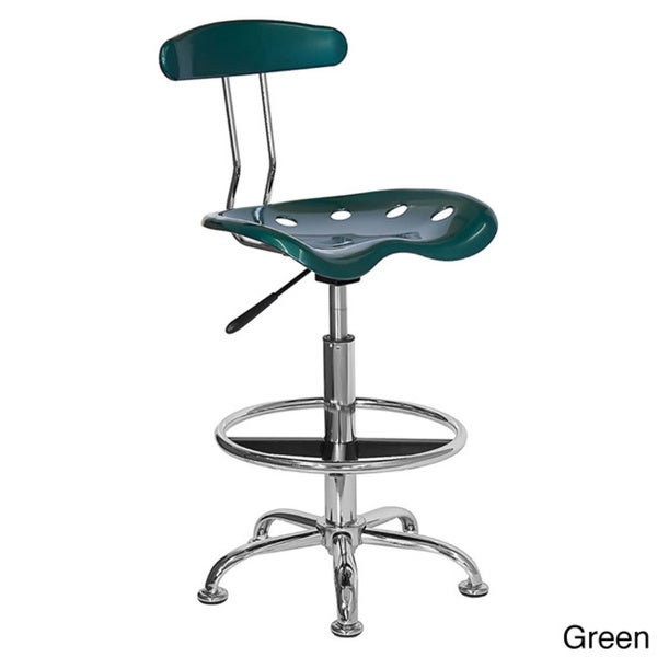Offex Chrome Drafting Stool with Tractor Seat - Free Shipping Today - Overstock.com - 16900220  sc 1 st  Overstock.com & Offex Chrome Drafting Stool with Tractor Seat - Free Shipping ... islam-shia.org