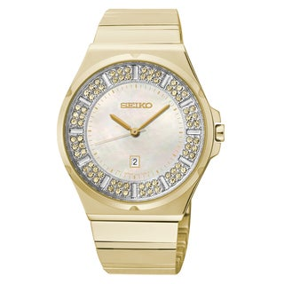Seiko Women's 'Core' Stainless Steel Yellow Goldplated Solar Powered Quartz Watch