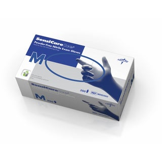 Medline SensiCare Ice Blue Nitrile Exam Gloves (10 Boxes)