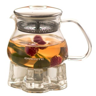 Ovente FGB27T 27-ounce Glass Tea Pot with Warmer
