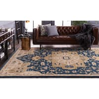 Hand-tufted Misty Traditional Wool Area Rug (6' x 9')
