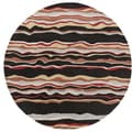 Hand-tufted Jalen Striped Wool Rug (9'9 Round)