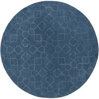 Hand-tufted Grady Floral New Zealand Wool Area Rug (8' Round)