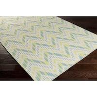 Hand-woven Lia Reversible Chevron Wool Area Rug
