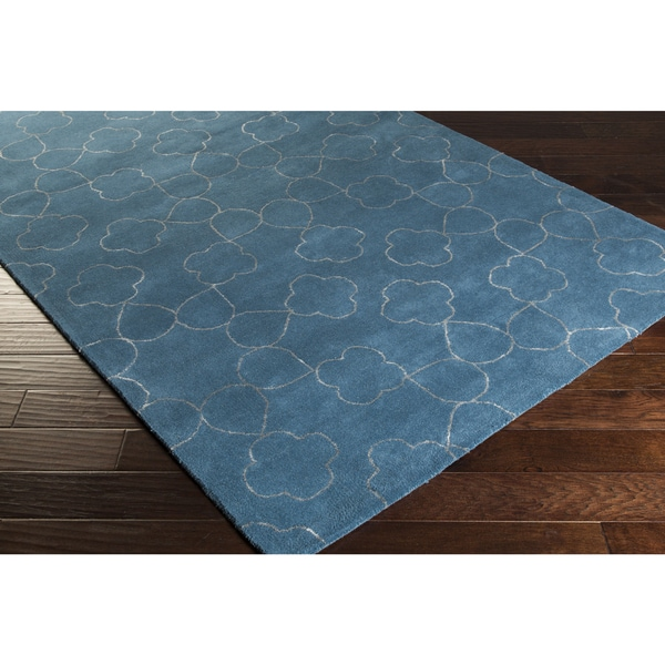 Hand-tufted Grady Floral New Zealand Wool Area Rug (5' x 8')