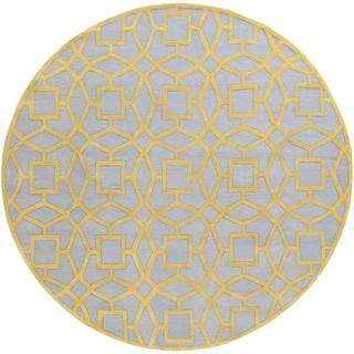 Hand-Tufted McKernan Contemporary New Zealand Wool Rug (8' Round)