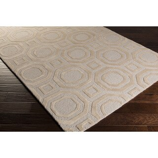 Hand-Tufted Stewart Contemporary New Zealand Wool Rug (5' x 8')