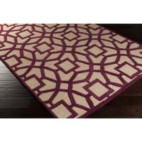 Hand-Tufted McKernan Contemporary New Zealand Wool Area Rug - 5' x 8'