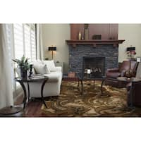 Hand-Tufted Byrne Paisley Wool Area Rug (8' x 11')