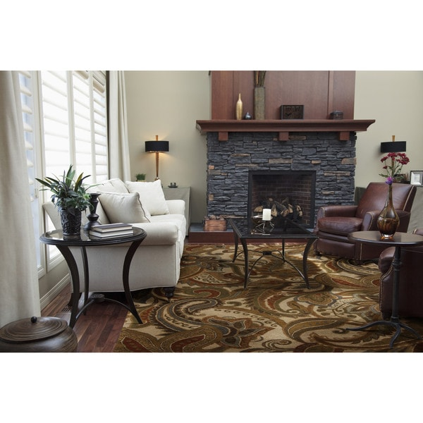 Hand-Tufted Byrne Paisley Wool Area Rug
