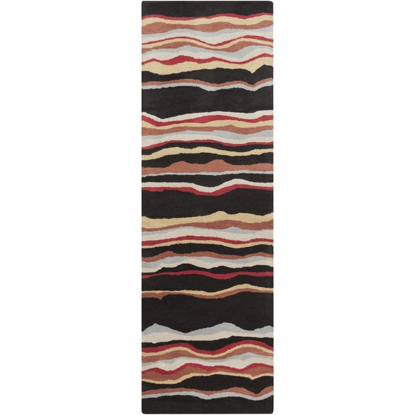 Hand-tufted Jalen Striped Wool Rug (2'6 x 8')
