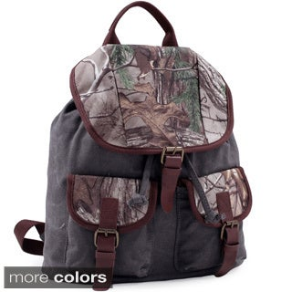 Realtree Fold-over Canvas and Camo Backpack