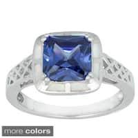 La Preciosa Sterling Silver Opal and Cubic Zirconia Ring