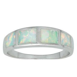 La Preciosa Sterling Silver Created Opal Ring