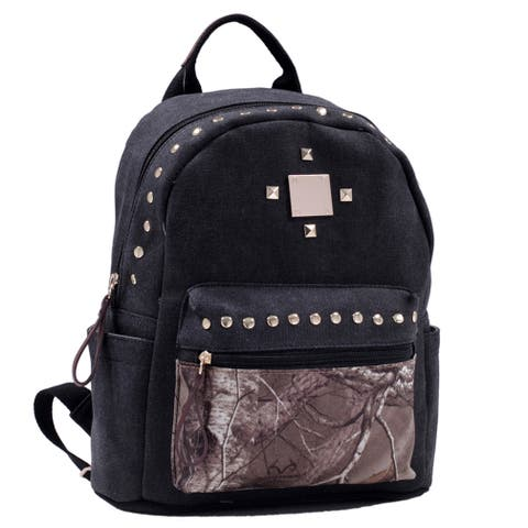 Realtree Studded Canvas Camo Backpack
