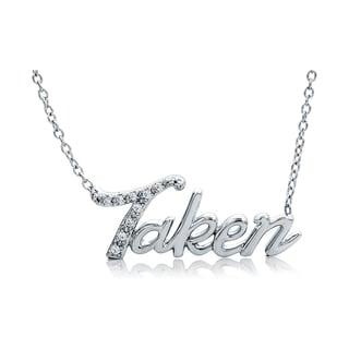 Bridal Symphony Sterling Silver Diamond Accent 'Taken' Necklace (I-J, I2-I3)