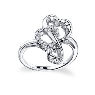 Love Grows Sterling Silver Crystal Ring