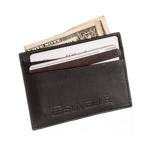 Buy leather business card holders online at overstock our best suvelle genuine leather credit card holder slim front pocket small wallet wallet colourmoves