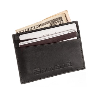 Suvelle W033 Genuine Leather Credit Card Holder Slim Front Pocket Wallet Wallet