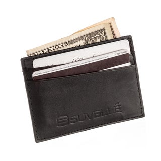 Suvelle Genuine Leather Credit Card Holder Slim Front Pocket Small Wallet Wallet