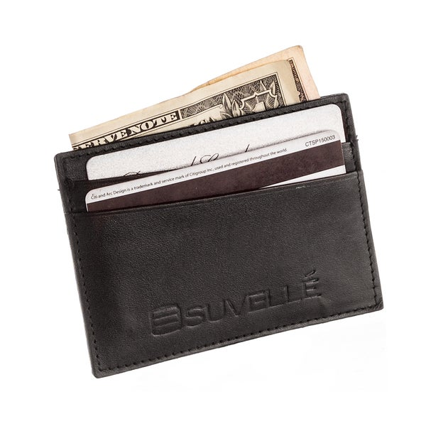 sports shoes 01d1c 33429 Shop Suvelle W033 Genuine Leather Credit Card Holder Slim Front ...