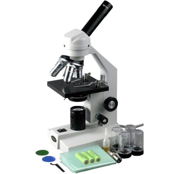 AmScope 40x-2000x Cordless LED Compound Biological Microscope