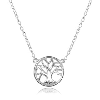 Journee Collection Sterling Silver Tree Pendant