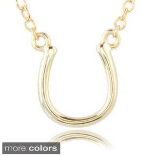 Journee Collection Sterling Silver Horseshoe Pendant